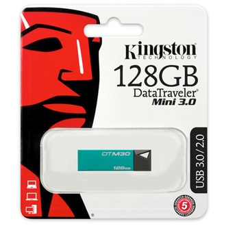 Kingston 128GB Data Traveler Mini USB3.0 pendrive zöld