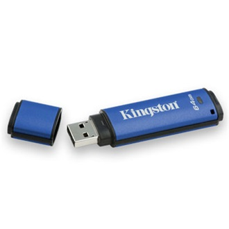 Kingston 64GB USB 2.0 Data Traveler Vault Privacy w/256bit Encryption + 100% Privacy Memory Pen