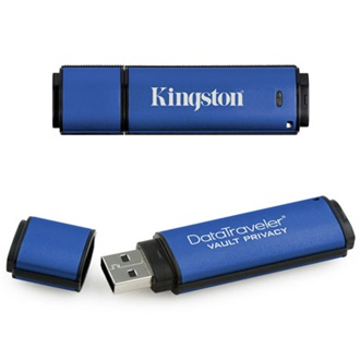 Kingston 1GB USB 2.0 Data Traveler Vault Privacy w/256bit Encryption + 100% Privacy Memory Pen