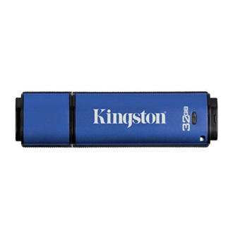 Kingston 32GB Data Traveler Vault Privacy w/256bit Encryption + 100% Privacy  USB2.0 pendrive kék