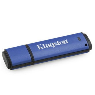 Kingston 2GB USB 2.0 Data Traveler Vault Privacy w/256bit Encryption + 100% Privacy Memory Pen, Managed