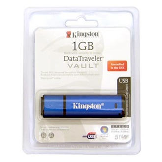 Kingston 1GB USB 2.0 Data Traveler Vault w/256bit  AES Memory Pen