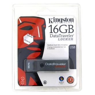 Kingston 16GB USB 2.0 Hi-Speed Data Traveler Locker w/Encryption
