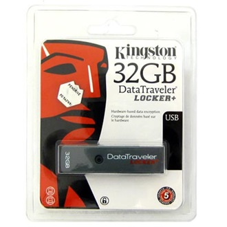 Kingston 32GB USB 2.0 Hi-Speed Data Traveler Locker+ w/Encryption