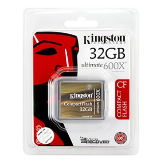 Kingston 32GB Ultimate 600x Compact Flash memóriakártya