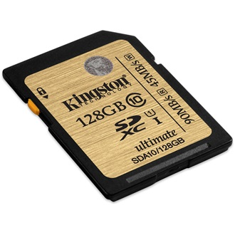 Kingston 128GB Ultimate Class 10 UHS-I SDXC memóriakártya