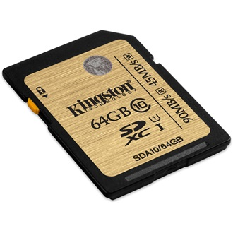 Kingston 64GB Ultimate Class 10 UHS-I SDXC memóriakártya