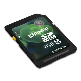 Kingston 4GB Video Secure Digital Class 10 memóriakártya