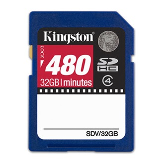 Kingston 32GB Video Secure Digital (SDHC Class 4) memória kártya, 480min