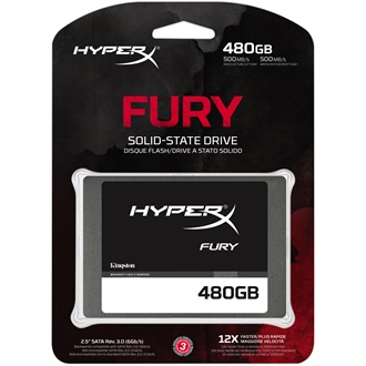 "Kingston HyperX Fury 480GB SATA3 2,5"" SSD"