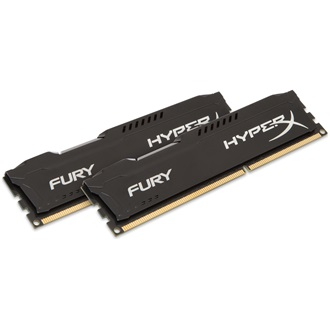 Kingston HyperX Fury Black 16GB 1600MHz DDR3 memória Non-ECC Low-Voltage CL10 Kit of 2 1.35V
