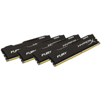 Kingston HyperX Fury Black 16GB 2400MHz DDR4 memória Non-ECC CL15 Kit of 4