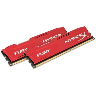 Kingston HyperX Fury Red 8GB 1866MHz DDR3 memória Non-ECC CL10 Kit of 2