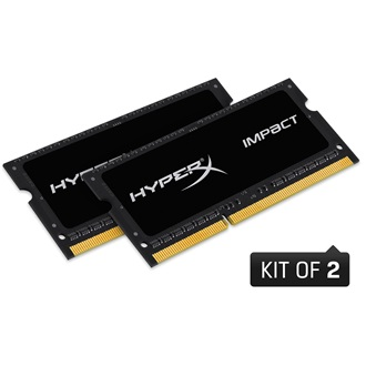 Kingston HyperX Impact Black 8GB 1600MHz DDR3 - SODIMM memória Non-ECC Low-Voltage CL9 Kit of 2 1.35V