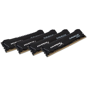 Kingston HyperX Savage Black 16GB 3000MHz DDR4 memória Non-ECC CL15 Kit of 4 XMP