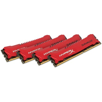Kingston HyperX Savage 32GB 2400MHz DDR3 memória Non-ECC CL11 Kit of 4
