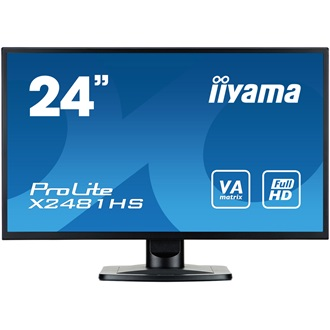 "LCD LED 23.6"" Prolite X2481HS-B1 Full HD, 6ms, DVI-D, HDMI, speakers, black"