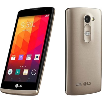 LG Leon 4G LTE, Black Gold (Android)
