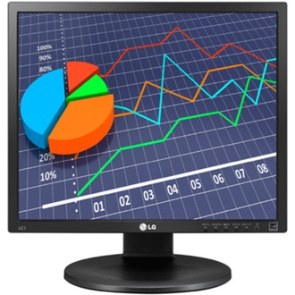"LG 19MB35P-B 19"" IPS LED monitor fekete"