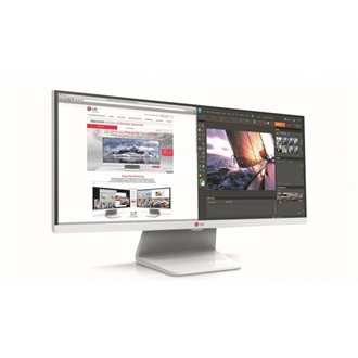 "LG 29"" Monitor IPS - 29UM65-W (LED 21:9; 2560x1080; 5ms; 250cd; HDMIx2; DP; DVI; Speaker; Vesa; Fehér)"