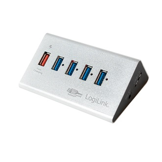 LogiLink USB 3.0 High Speed Hub 4-Port + 1x Fast Charging Port