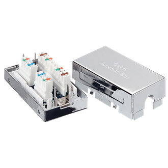 Logilink Connection Box, LSA, CAT6, metal, shielded