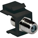 Logilink Keystone Coupler F-Type 75 Ohm F/F, black