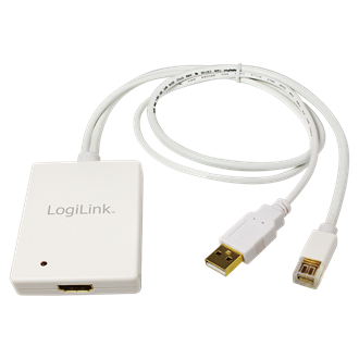 LogiLink Displayport mini USB A -> HDMI M/F adapter 0.3m fehér