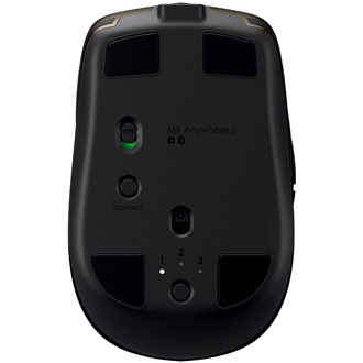 Logitech MX Anywhere 2 Bluetooth + Wireless lézeres egér fekete