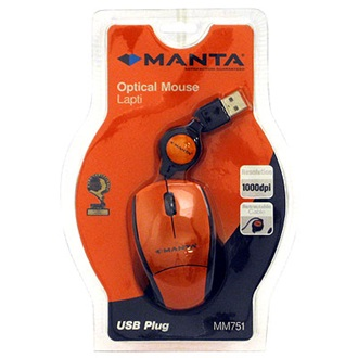 MANTA Lapti optikai egér, USB (MM751)