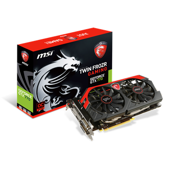 MSI Geforce GTX770 OC Twin Frozr 4GB GDDR5 256bit PCI-E x16