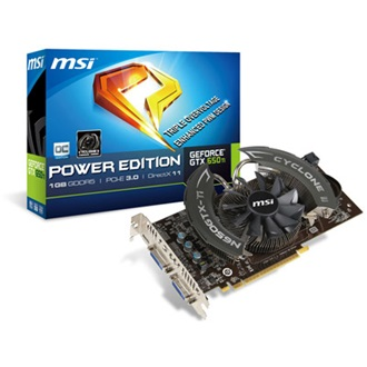 MSI Geforce GTX650 Ti OC 1GB GDDR5 192bit PCI-E x16