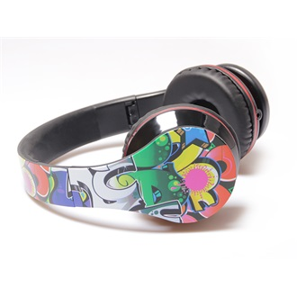 Media-Tech GRAFITTI mintás mikrofonos headset