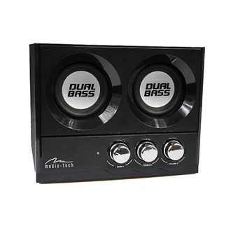 Media-Tech SOUNDRAVE 2.2 DUALBASS hangfalszett 25W RMS
