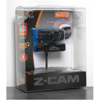 Media-Tech Z-CAM 0,3MP webkamera kék