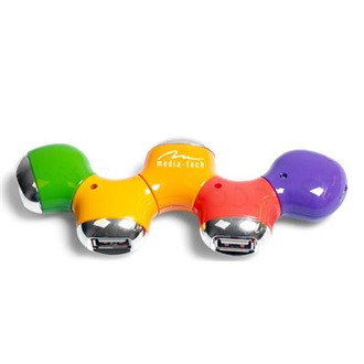 Media-Tech COLOR 4 portos USB2.0 HUB