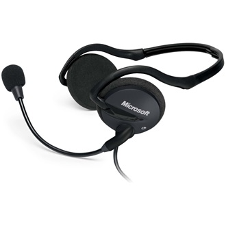 Microsoft LifeChat LX-2000 stereo headset fekete