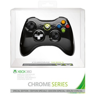 Microsoft Xbox 360 Chrome Series wireless controller fekete