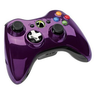 Microsoft Xbox 360 Chrome Series wireless controller lila