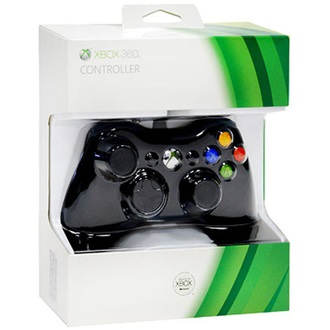 Microsoft Xbox 360 controller fekete
