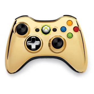 Microsoft Xbox 360 Chrome Series wireless controller arany Limited Edition