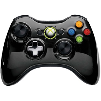 Microsoft Xbox 360 Chrome Series wireless controller fekete Limited Edition