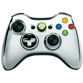 Microsoft Xbox 360 Chrome Series wireless controller króm Limited Edition