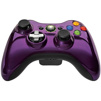 Microsoft Xbox 360 Chrome Series wireless controller lila Limited Edition