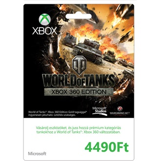 Microsoft Xbox Live 4490Ft feltöltőkártya (World of Tanks design)