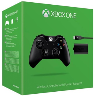 Microsoft Xbox One Wireless Controller fekete + Play and Charge kit