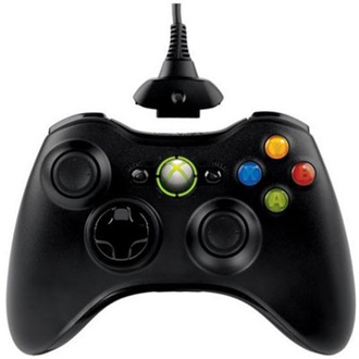 MICROSOFT Xbox 360 wireless Gamepad fekete + Play & Charge kit