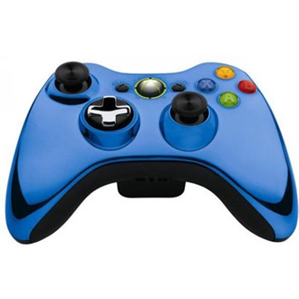 Microsoft Xbox 360 Chrome Series wireless controller kék Limited Edition