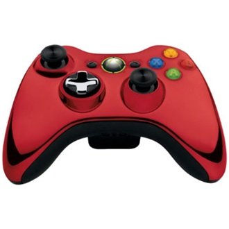 Microsoft Xbox 360 Chrome Series wireless controller piros Limited Edition