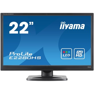 "Monitor Iiyama B2280HS-B1DP 21.5"" LED FHD, 2ms, DP, DVI, Speakers"